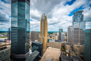 Downtown Minneapolis and surrounding urban Fotobehang
