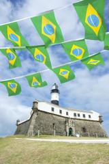 Farol da Barra Salvador Brazil Lighthouse Brazilian Flags