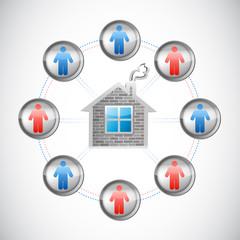 home network illustration design