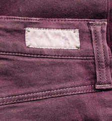 jeans texture, decorated  label, stitch
