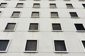 Windows of the building work
