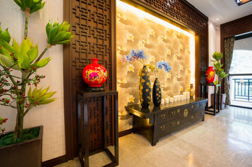 interior decoration of Chinese style
