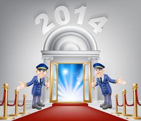 New Year Opportunity Door 2014
