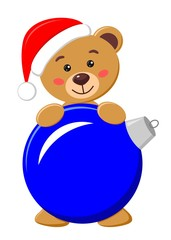 bear with Christmas ball