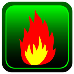 fire button color vector illustration