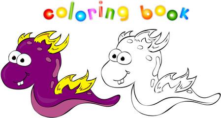 Coloring book dragon-monster