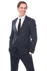 Portrait of a charming young businessman smiling