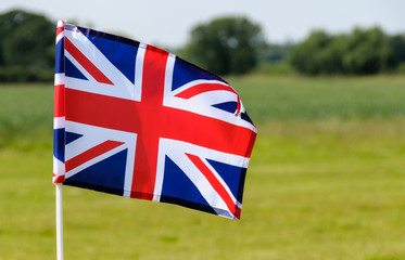 flying union flag