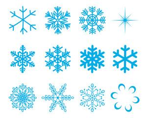 Vector Snowflakes Set - śnieżynki