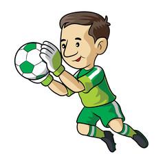 Soccer Kid Cartoon
