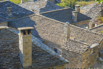 Greece Ioannina, traditional view of clasical stone made houses