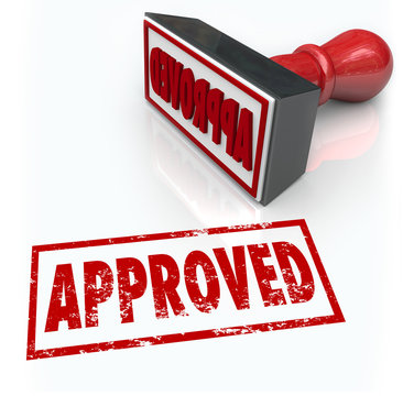Approved Rubber Stamp Accepted Approval Result