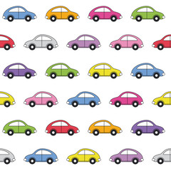 colorful cars pattern
