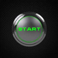 Green LED start button on black background.