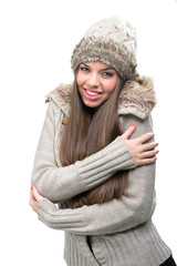 Fashion model - warm winter clothing