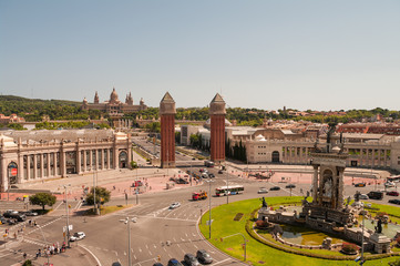 Monument at Placa d'Espanya, Barcelona, Spain