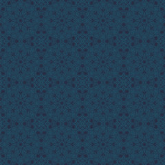 Dark blue male seamless pattern in oriental style
