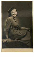 CIRCA 1940 - An unidentified young woman