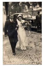wedding day, couple - circa 1950