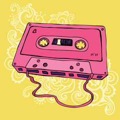 Retro Audio cassette tape