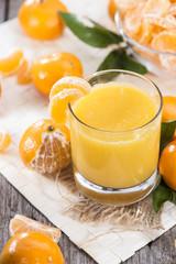 Fresh made Tangerine Juice