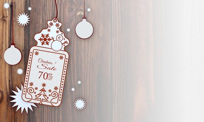 xmas coupon with Christmas discount 70 percent off sign