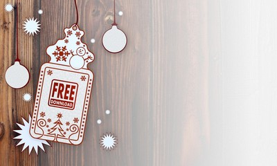 xmas coupon with free download label