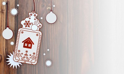 xmas coupon with house sign