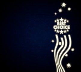a best choice design with stars