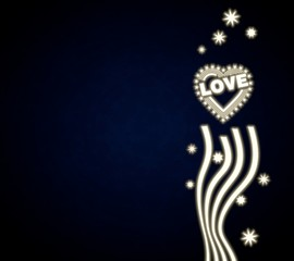a heart with stars background with stars