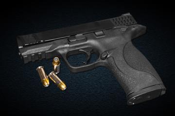 A 45 caliber gun