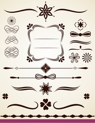 Text frame, border, dividers and decorations