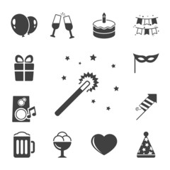 Celebration iconset, contrast flat