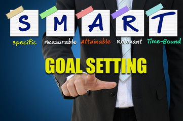 Smart goal setting of business concept