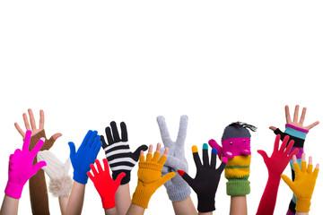 bunte handschuhe