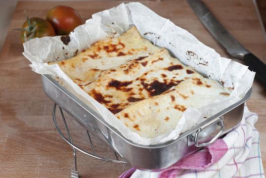 Lasagna golden