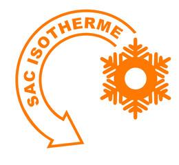 Fototapete - sac isotherme flèche orange