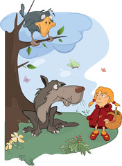The Wolf and the Little Red Riding Hood cartoon