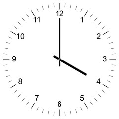 Clock Illustration 4:00