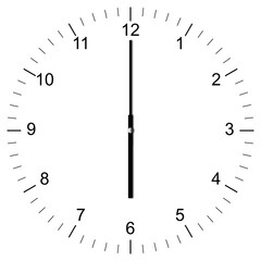 Clock Illustration 6:00