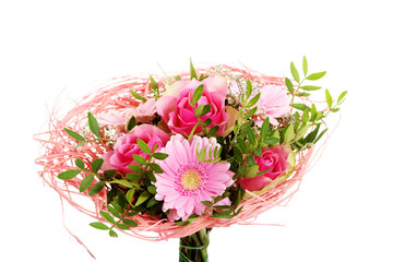 Beautiful bouquet of pink flowers.