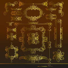 Векторный набор, золото