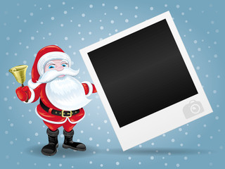 Santa Claus and photo frame.
