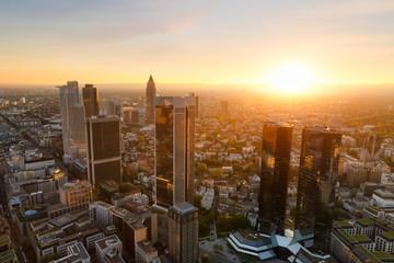Fototapete - Frankfurt skyline