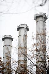Power Plant Chimneys
