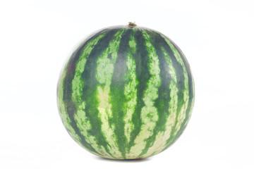 One green striped watermelon