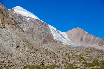 Fototapete - Mountains and glacier. Tien Shan