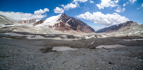 Fototapete - Panorama of Tien Shan mountains