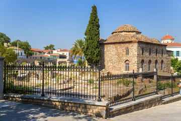Athens. Roman Agora and Turkish Mosque (Fethiye Djami)