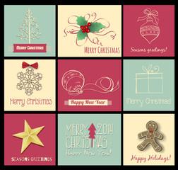 9 Christmas cards